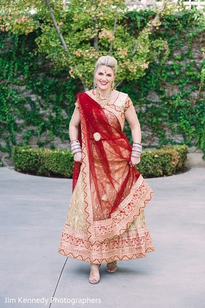Bridal Fashion in Yorba Linda, CA Indian Fusion Wedding by Jim Kennedy Photographers