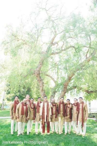 Groomsmen in Yorba Linda, CA Indian Fusion Wedding by Jim Kennedy Photographers