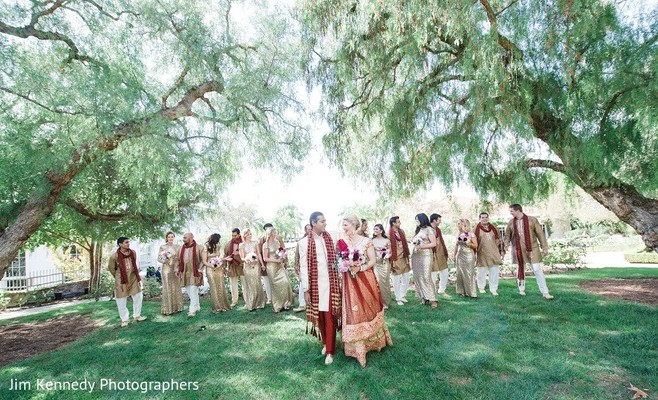 Wedding Party in Yorba Linda, CA Indian Fusion Wedding by Jim Kennedy Photographers
