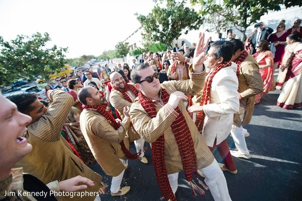 Baraat in Yorba Linda, CA Indian Fusion Wedding by Jim Kennedy Photographers
