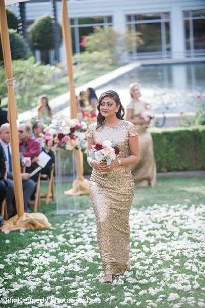 Ceremony in Yorba Linda, CA Indian Fusion Wedding by Jim Kennedy Photographers