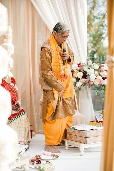 Ceremony in Yorba Linda, CA Indian Fusion Wedding by Jim Kennedy Photographers