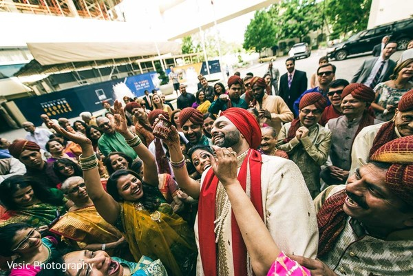 Baraat in Charlotte, NC Indian Wedding by Vesic Photography