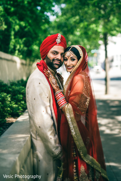 First look in Charlotte, NC Indian Wedding by Vesic Photography