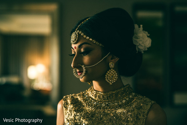 Indian bride in Charlotte, NC Indian Wedding by Vesic Photography