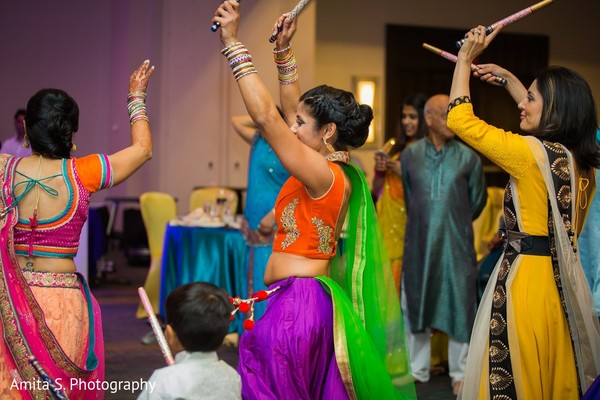 indian pre-wedding,pre-wedding celebration,dandiya raas,dandiya,garba,garba night,raas