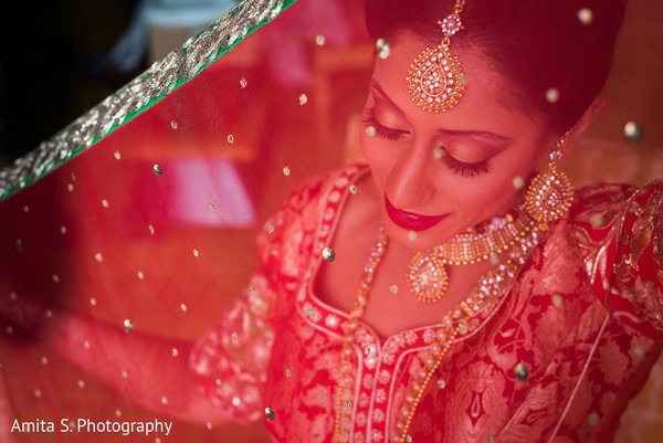 getting ready,indian bride getting ready,dupatta