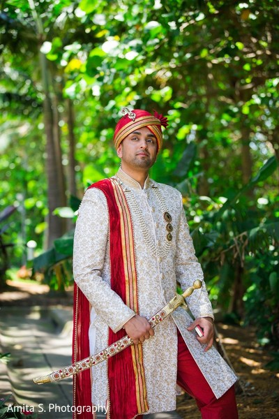 Groom Fashion in Fort Lauderdale, FL Indian Wedding by Amita S. Photography