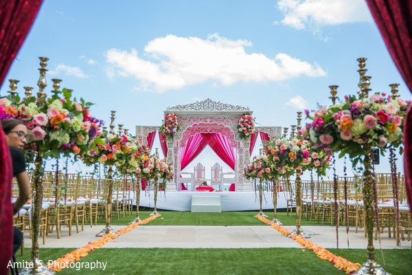 Ceremony Decor in Fort Lauderdale, FL Indian Wedding by Amita S. Photography