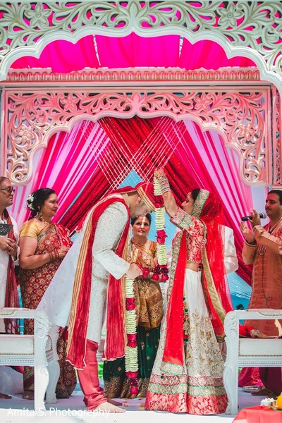 Ceremony in Fort Lauderdale, FL Indian Wedding by Amita S. Photography