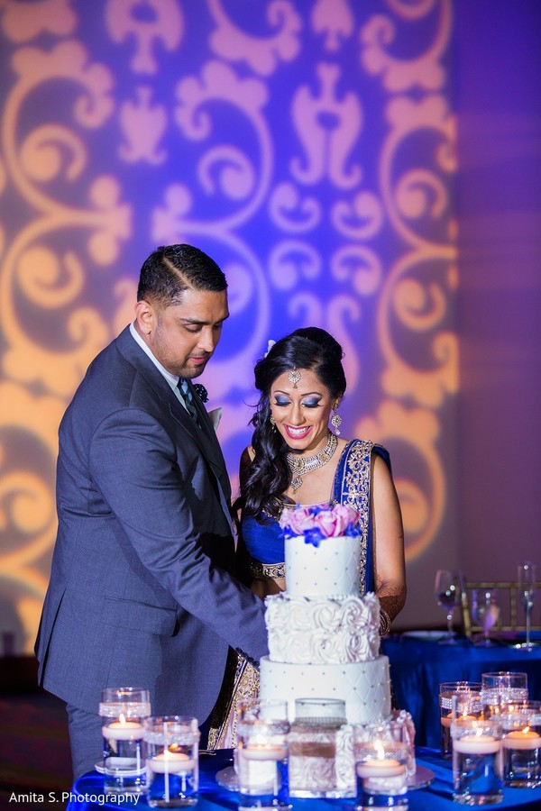 wedding reception,reception,south asian wedding reception,indian wedding reception,cake cutting