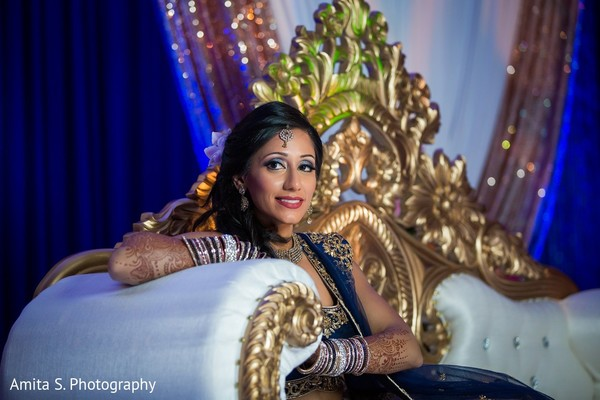 Reception Portrait in Fort Lauderdale, FL Indian Wedding by Amita S. Photography