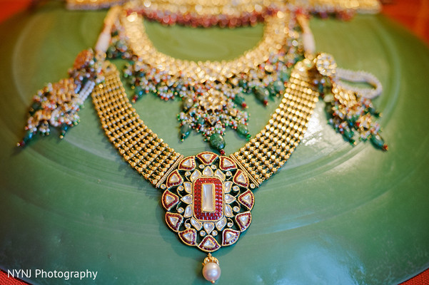 Necklace in Bridgewater, NJ Indian Wedding by NYNJ Photography