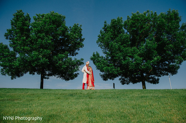First look in Bridgewater, NJ Indian Wedding by NYNJ Photography