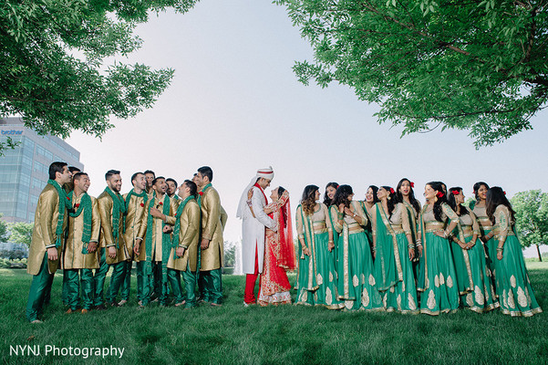 Wedding party in Bridgewater, NJ Indian Wedding by NYNJ Photography