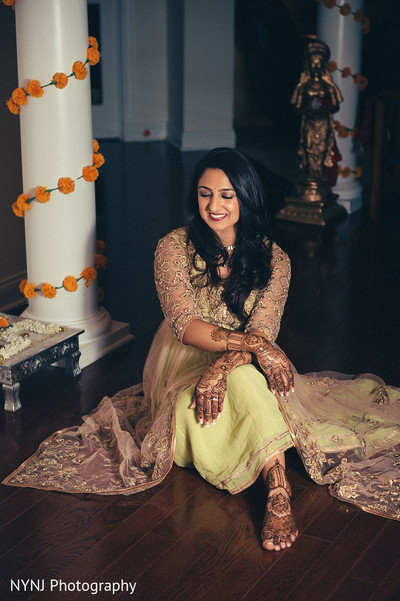 Mehndi portraits in Bridgewater, NJ Indian Wedding by NYNJ Photography