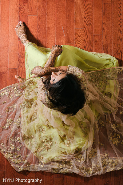 Mehndi portraits in Bridgewater, NJ Indian Wedding by NYNJ Photography