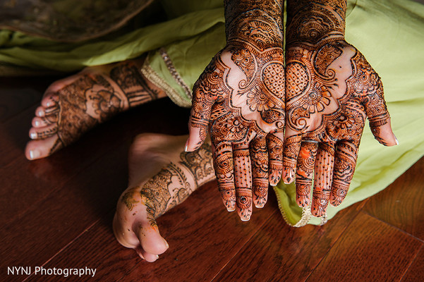 Mehndi in Bridgewater, NJ Indian Wedding by NYNJ Photography