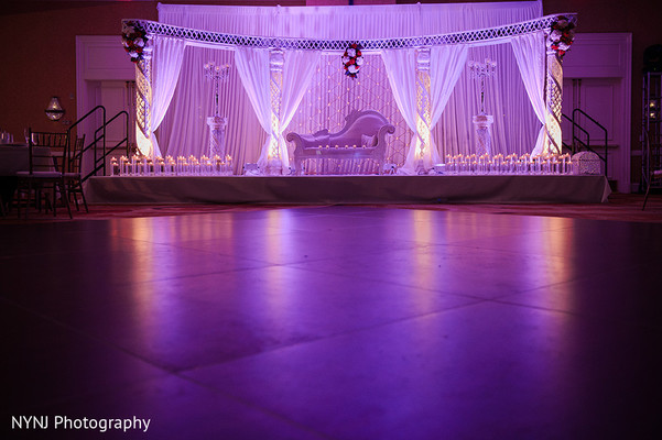 Reception decor in Bridgewater, NJ Indian Wedding by NYNJ Photography