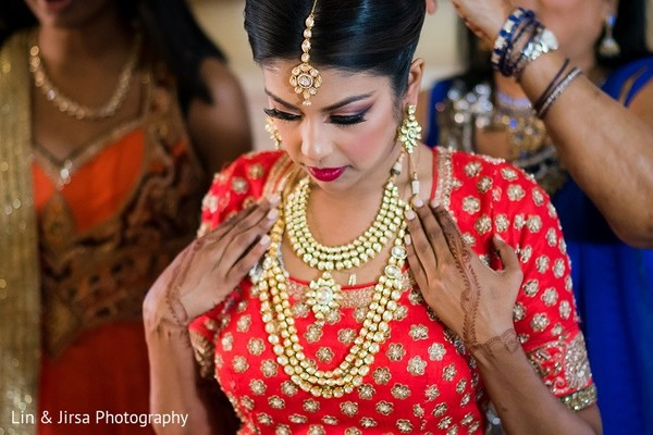 Getting Ready in Yorba Linda, CA Indian Wedding by Lin & Jirsa Photography