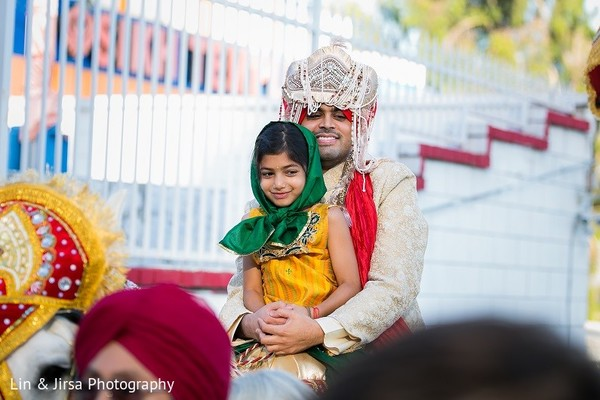 Baraat in Yorba Linda, CA Indian Wedding by Lin & Jirsa Photography