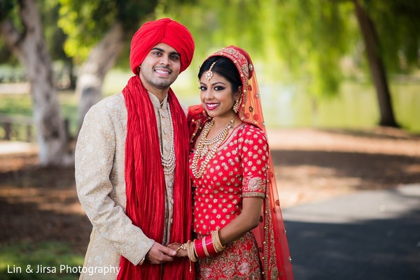 Wedding Portrait in Yorba Linda, CA Indian Wedding by Lin & Jirsa Photography