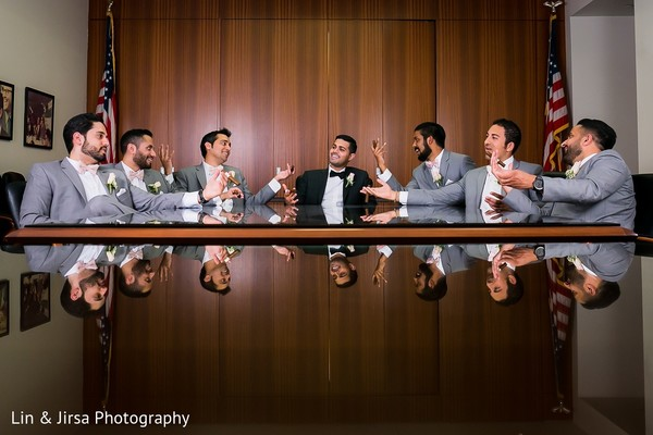 Groomsmen in Yorba Linda, CA Indian Wedding by Lin & Jirsa Photography