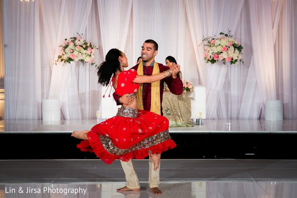 Reception in Yorba Linda, CA Indian Wedding by Lin & Jirsa Photography