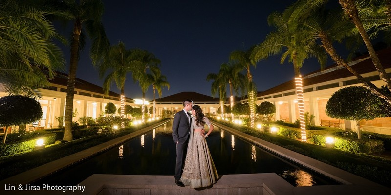 Reception Portrait in Yorba Linda, CA Indian Wedding by Lin & Jirsa Photography