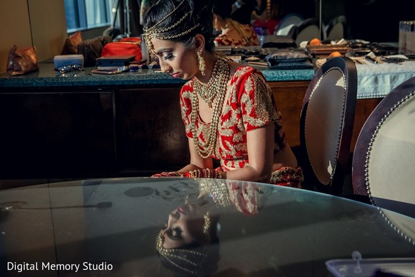 Getting Ready in Mahwah, NJ Indian Wedding by Digital Memory Studio
