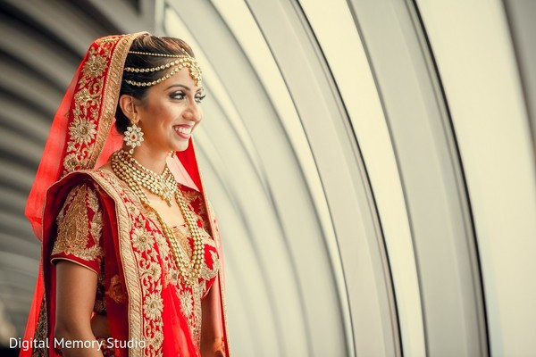 Bridal Portrait in Mahwah, NJ Indian Wedding by Digital Memory Studio