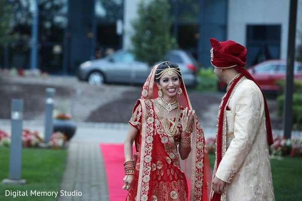 First Look in Mahwah, NJ Indian Wedding by Digital Memory Studio