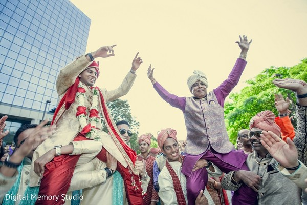 Baraat in Mahwah, NJ Indian Wedding by Digital Memory Studio