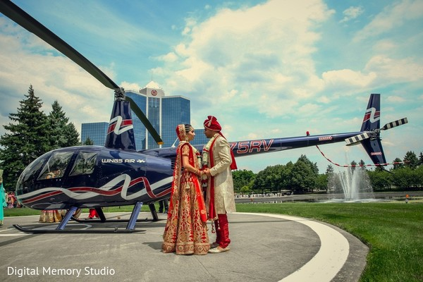 Wedding Portrait in Mahwah, NJ Indian Wedding by Digital Memory Studio