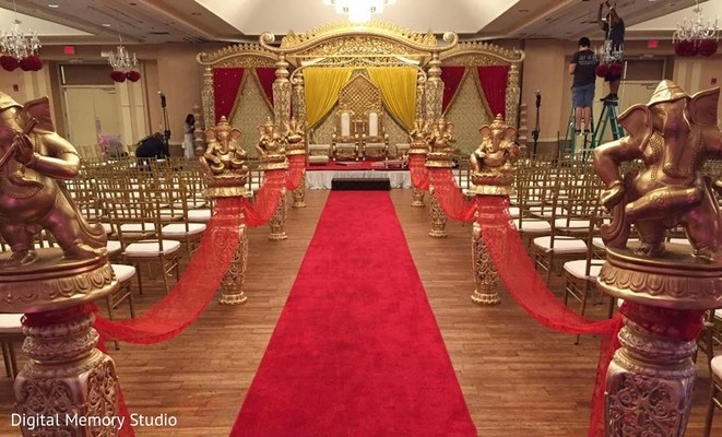 Ceremony Decor in Mahwah, NJ Indian Wedding by Digital Memory Studio