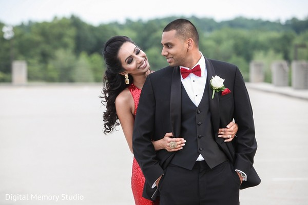 Reception Portrait in Mahwah, NJ Indian Wedding by Digital Memory Studio