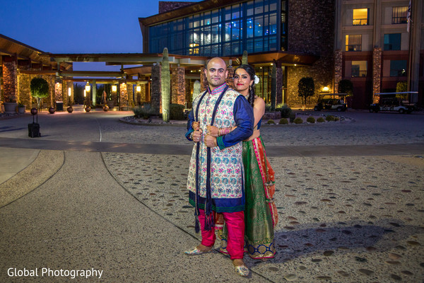 Pre-Wedding Portrait in Scottsdale, AZ Indian Wedding by Global Photography