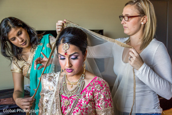 Getting Ready in Scottsdale, AZ Indian Wedding by Global Photography
