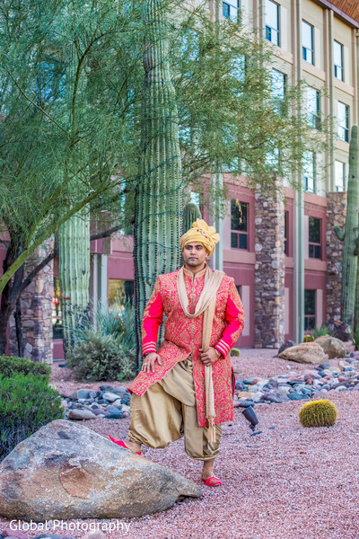 Groom Fashion in Scottsdale, AZ Indian Wedding by Global Photography