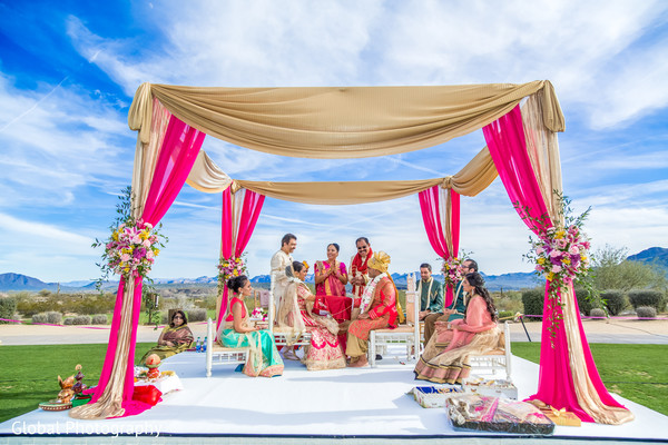 outdoor wedding,outdoor wedding ceremony,indian wedding ceremony,hindu wedding,ceremony,outdoor mandap