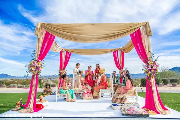 outdoor wedding,outdoor wedding ceremony,indian wedding ceremony,hindu wedding,ceremony,outdoor mandap