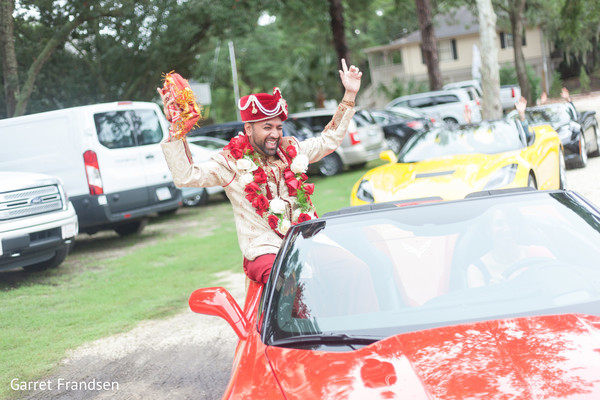 Baraat in Tybee Island, GA Indian Wedding by Garret Frandsen Photography