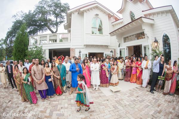 Baraat in Tybee Island, GA Indian Wedding by Garret Frandsen Photography