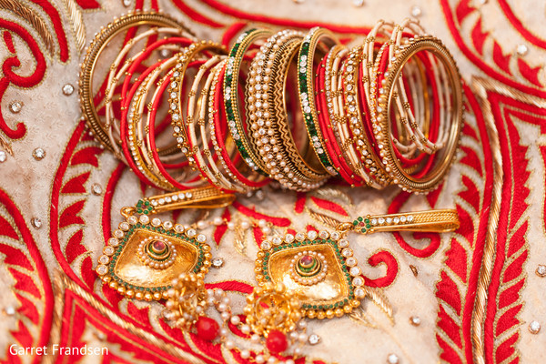 Bridal jewelry in Tybee Island, GA Indian Wedding by Garret Frandsen Photography