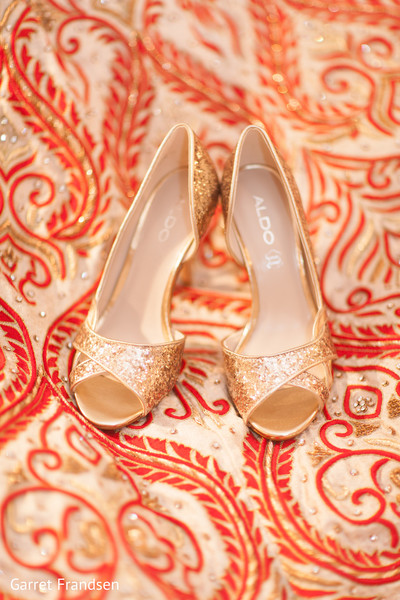 Shoes in Tybee Island, GA Indian Wedding by Garret Frandsen Photography