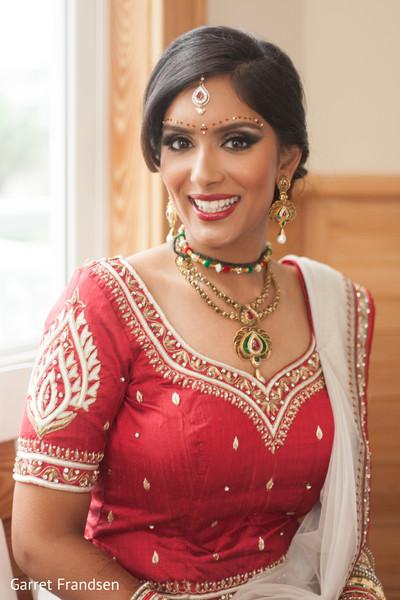 Bride in Tybee Island, GA Indian Wedding by Garret Frandsen Photography
