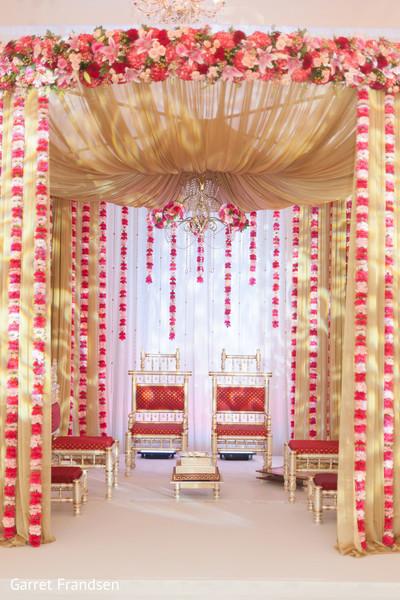 Ceremony decor in Tybee Island, GA Indian Wedding by Garret Frandsen Photography