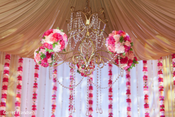 Ceremony decor in Tybee Island, GA Indian Wedding by Garret Frandsen Photography