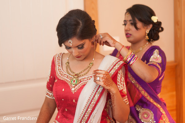 Getting ready in Tybee Island, GA Indian Wedding by Garret Frandsen Photography