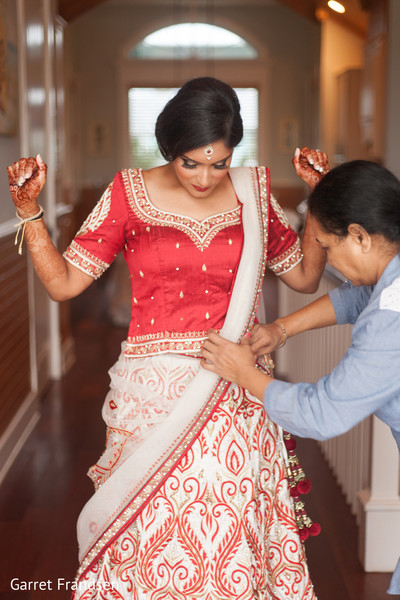 Getting ready in Tybee Island, GA Indian Wedding by Garret Frandsen Photography